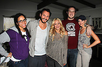 """Kelly Rogers, Mark Gantt, Jennifer Blanc, Dylan Matlock, Brianne Davis<br /> on the set of """"The Night Visitor 2: Heather's Story"""" by Blanc-Biehn Productions, Private Location, Los Angeles, CA 02-19-14<br /> David Edwards/Dailyceleb.com 818-249-4998"""