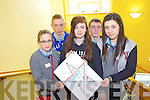 Seventeen schools from Kerry and Cork took part in Ceiluradh na nOg, in the Brandon Conference Centre yesterday (Wednesday). Pictured were: Grace Collins, Amy Nunan, Aoife Murphy, Aidan Kerins and Sean Vaughan.