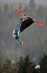 16 January 2009: Timofei Slivets from Belarus performs aerial acrobatics during the FIS Freestyle World Cup warm-ups at the Olympic Ski Jumping Facility in Lake Placid, NY, USA. Mandatory Photo Credit: Ed Wolfstein Photo. Contact: Ed Wolfstein, Burlington, Vermont, USA. Telephone 802-864-8334. e-mail: ed@wolfstein.net