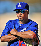 22 July 2011: Los Angeles Dodgers shortstop Rafael Furcal stands on the sidelines prior to a game against the Washington Nationals at Dodger Stadium in Los Angeles, California. The Nationals defeated the Dodgers 7-2 in their first meeting of the 2011 season. Mandatory Credit: Ed Wolfstein Photo