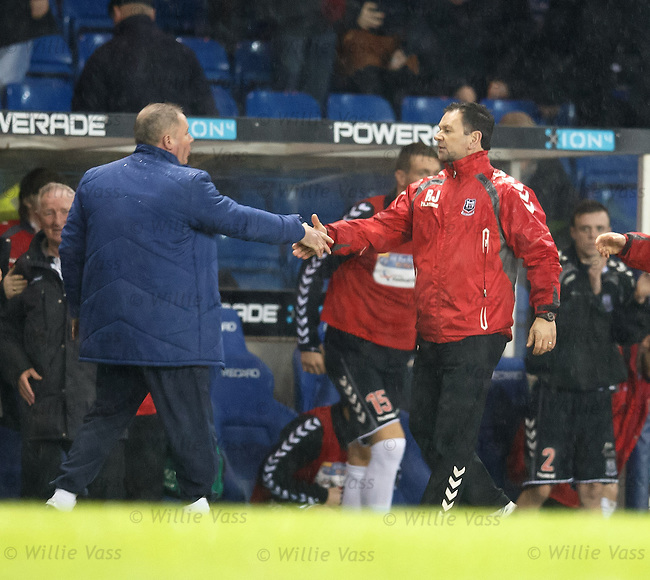 Ally McCoist and Ross Jack at the end