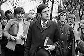 Christian preacher, Speakers Corner, Hyde Park, London; May 1977.