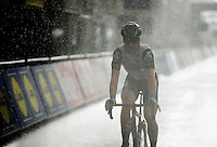 Tyler Farrar (USA/DimensionData) crosses the finish line as a rain storm hits Wevelgem<br /> <br /> 78th Gent - Wevelgem in Flanders Fields (1.UWT)