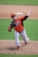 Baltimore Orioles pitcher Garrett Cleavinger (34) during an instructional league game against the Minnesota Twins on September 22, 2015 at Ed Smith Stadium in Sarasota, Florida.  (Mike Janes/Four Seam Images)