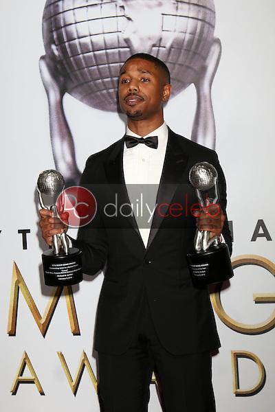 Michael B. Jordan<br /> at the 47TH NAACP Image Awards Press Room, Pasadena Civic Auditorium, Pasadena, CA 02-05-16<br /> David Edwards/DailyCeleb.com 818-249-4998