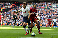 Georginio Wijnaldum of Liverpool and Harry Kane of Tottenham Hotspur during Tottenham Hotspur vs Liverpool, Premier League Football at Wembley Stadium on 15th September 2018