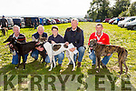 Enjoying the the Kilflynn Coursing on monday were Noel Hallissey, John Hallissey, Clonakility, Conor O'Neill, Jimmy O'Regan with dogs Kilty Sadie, (Oaks Trial Stake) Arcade Amy (All Age Bitch Stake) and Ballyverry Baby (All Age Bitch Stake)