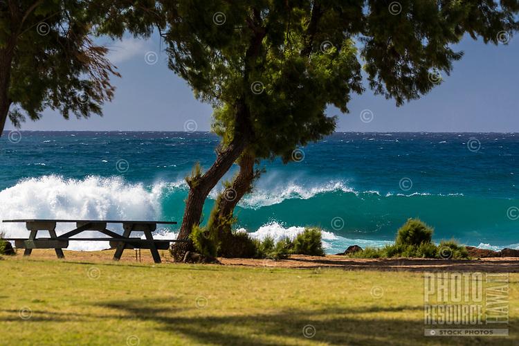 Shorebreak at Po'ipu Beach Park, Kaua'i.