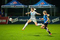 Kansas City, MO - Thursday August 10, 2017: Abby Dahlkemper, Brittany Ratcliffe during a regular season National Women's Soccer League (NWSL) match between FC Kansas City and the North Carolina Courage at Children's Mercy Victory Field.