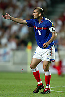 Zinedine Zidane of France reacts during the European Championship football match between France and England. France won 2-1 over England .<br /> Lisbon 13/6/2004 Estadio da Luz <br /> Photo Andrea Staccioli Insidefoto