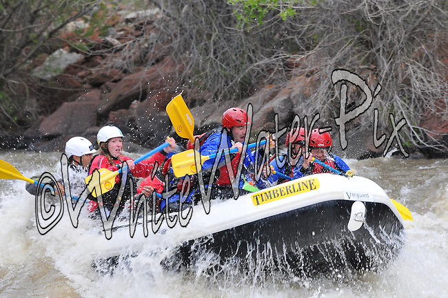 Timberline Tours crashing Interstate, Dead Cow & Rodeo Rapids while running the Lower Eagle River from Wolcott to Eagle, Vail Valley, Colorado, May 27, 2014, PM, WhiteWater-Pix   River Adventure Photography, Doug Mayhew   Madographer