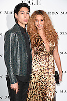 Lucas Goodman and Jill Hervey (LionBabe)<br /> at the Vogue 100: A Century of Style exhibition opening held in the National Portrait Gallery, London.<br /> <br /> <br /> ©Ash Knotek  D3080 09/02/2016