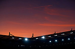 This sun sets below the stadium before Leicester City play Everton in the Premier League match at the King Power Stadium, Leicester. Picture date: 1st December 2019. Picture credit should read: Darren Staples/Sportimage