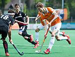 BLOEMENDAAL   - Hockey - Tim Jenniskens (Bldaal). 3e en beslissende  wedstrijd halve finale Play Offs heren. Bloemendaal-Amsterdam (0-3).     Amsterdam plaats zich voor de finale.  COPYRIGHT KOEN SUYK