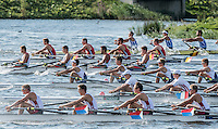 Rotterdam. Netherlands.   Junior SEMI FINAL A/B, at the  2016 JWRC, U23 and Non Olympic Regatta. {WRCH2016}  at the Willem-Alexander Baan.   Saturday  27/08/2016 <br /> <br /> [Mandatory Credit; Peter SPURRIER/Intersport Images]