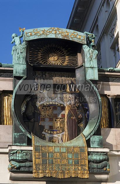 Europe/Autriche/Niederösterreich/Vienne: Horloge  sécessionniste de Hoher Markt - Art Nouveau