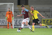 Burnley's Kevin Long battles with Burton Albion's Liam Boyce<br /> <br /> Photographer Mick Walker/CameraSport<br /> <br /> The Carabao Cup Round Three   - Burton Albion  v Burnley - Tuesday  25 September 2018 - Pirelli Stadium - Buron On Trent<br /> <br /> World Copyright &copy; 2018 CameraSport. All rights reserved. 43 Linden Ave. Countesthorpe. Leicester. England. LE8 5PG - Tel: +44 (0) 116 277 4147 - admin@camerasport.com - www.camerasport.com