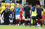 Lee McCulloch leads out the teams