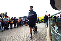 Michael van Vuuren and the rest of the Bath Rugby team arrive for the match. Heineken Champions Cup match, between Wasps and Bath Rugby on October 20, 2018 at the Ricoh Arena in Coventry, England. Photo by: Patrick Khachfe / Onside Images