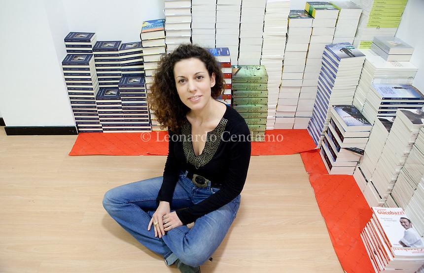 Bologna, Italy,Gennaio 2010, Silvia Avallone, ® nata a Biella, ( Acciaio ) il suo primo libro, edito rizzoli.  ¬© Leonardo Cendamo