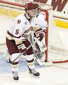 Patrick Wey (BC - 6) - The Boston College Eagles defeated the visiting University of Massachusetts-Lowell River Hawks 5-3 (EN) on Saturday, January 22, 2011, at Conte Forum in Chestnut Hill, Massachusetts.