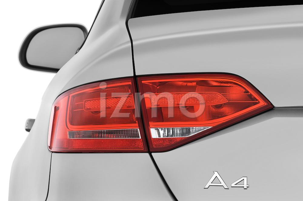 Tail light close up detail view of a 2011 Audi A4 Sedan