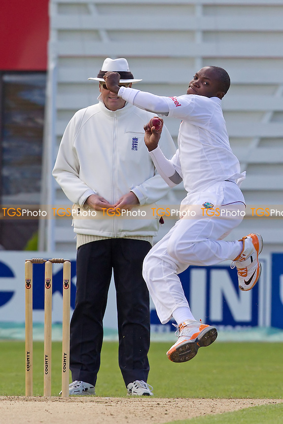 Fidel Edwards, West Indies in action - West Indies vs England Lions - International Cricket Match at The County Ground, Northamptonshire CCC - 11/05/12 - MANDATORY CREDIT: Ray Lawrence/TGSPHOTO - Self billing applies where appropriate - 0845 094 6026 - contact@tgsphoto.co.uk - NO UNPAID USE.