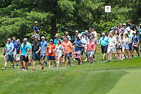 Bethesda, MD - July 2, 2017: The fans walk during final round of professional play at the Quicken Loans National Tournament at TPC Potomac  in Bethesda, MD, July 2, 2017.  (Photo by Elliott Brown/Media Images International)