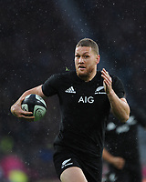 Tawera Kerr-Barlow of New Zealand in action during the 125th Anniversary Match between Barbarians and New Zealand at Twickenham Stadium on Saturday 4th November 2017 (Photo by Rob Munro/Stewart Communications)