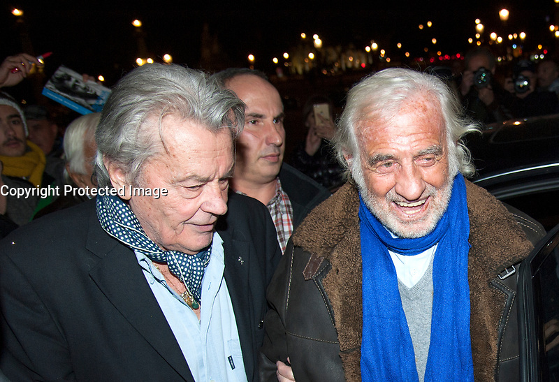 November 17 2017, PARIS FRANCE<br /> inauguration of the Big Wheel at Place de la Concorde Paris, in the presence of the Actors Alain Delon, Jean Paul Belmondo.