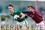 David Clifford Kerry in action against Paul Conroy Galway in the Allianz Football League Division 1 Round 4 match between Kerry and Galway at Austin Stack Park, Tralee, Co. Kerry.
