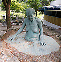 "The House of Sharing for Comfort Women, June 7, 2016 : A sculpture of comfort woman is seen at the House of Sharing in Gwangju, Gyeonggi province, about 30 km (18 miles) southeast of Seoul, June 7, 2016. The House of Sharing is a shelter for living South Korean ""comfort women"", who said they were forced to become sexual slavery by Japanese military during the Second World War. It was founded in 1992 with funds organized by Buddhists and other civic groups. The Museum of Sexual Slavery by Japanese Military locates in the shelter. (Photo by Lee Jae-Won/AFLO) (SOUTH KOREA)"