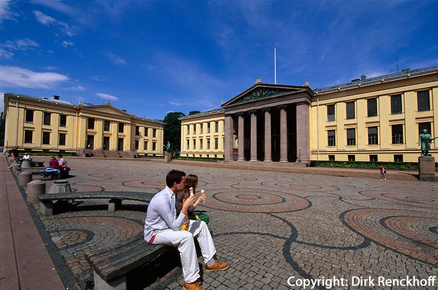Norwegen, Oslo, Karl Johans Gate, Universität