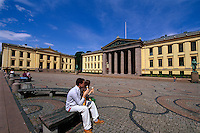 Norwegen, Oslo, Karl Johans Gate, Universität