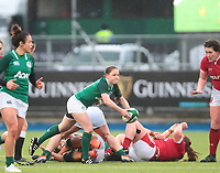 9nd February 2020; Energia Park, Dublin, Leinster, Ireland; International Womens Rugby, Six Nations, Ireland versus Wales; Nicole Cronin (Ireland) releases the ball from a ruck