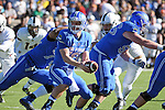 November 7, 2015 - Colorado Springs, Colorado, U.S. - Air Force quarterback, Karson Roberts #16, runs the option during the NCAA Football game between the Army Black Knights and the Air Force Academy Falcons at Falcon Stadium, U.S. Air Force Academy, Colorado Springs, Colorado.  Air Force defeats Army 20-3.