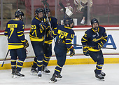 Jonathan Lashyn (Merrimack - 7), Hampus Gustafsson (Merrimack - 20), Ryan Cook (Merrimack - 2), Brett Seney (Merrimack - 13), Sami Tavernier (Merrimack - 25) - The visiting Merrimack College Warriors defeated the Boston College Eagles 6 - 3 (EN) on Friday, February 10, 2017, at Kelley Rink in Conte Forum in Chestnut Hill, Massachusetts.