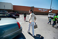 "Yue Zheng (cq) arrives at a WalMart in Lawton, Oklahoma, April 29, 2010. Zheng is adapting to life in the US after two years of teaching high school Chinese as part of a ""guest teacher"" program...PHOTO/ MATT NAGER"