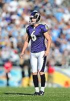 Sep. 20, 2009; San Diego, CA, USA; Baltimore Ravens kicker (6) Steve Hauschka against the San Diego Chargers at Qualcomm Stadium in San Diego. Baltimore defeated San Diego 31-26. Mandatory Credit: Mark J. Rebilas-