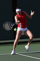 STANFORD, CA - FEBRUARY 19:  Veronica Li of the Stanford Cardinal during Stanford's 5-2 win over the St. Mary's Gaels on February 19, 2009 at the Taube Family Tennis Stadium in Stanford, California.