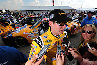 Oct 4, 2008; Talladega, AL, USA; NASCAR Sprint Cup Series driver Kyle Busch during qualifying for the Amp Energy 500 at the Talladega Superspeedway. Mandatory Credit: Mark J. Rebilas-