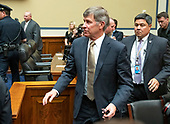 Vice Admiral Joseph Maguire (US Navy retired), acting Director of National Intelligence, departs following his giving testimony before the US House Permanent Select Committee on Intelligence on the  Whistleblower Complaint on Capitol Hill in Washington, DC on Thursday, September 26, 2019.<br /> Credit: Ron Sachs / CNP<br /> (RESTRICTION: NO New York or New Jersey Newspapers or newspapers within a 75 mile radius of New York City)