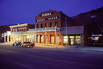 Dusk, Eureka Opera House, U.S. 50, Nevada