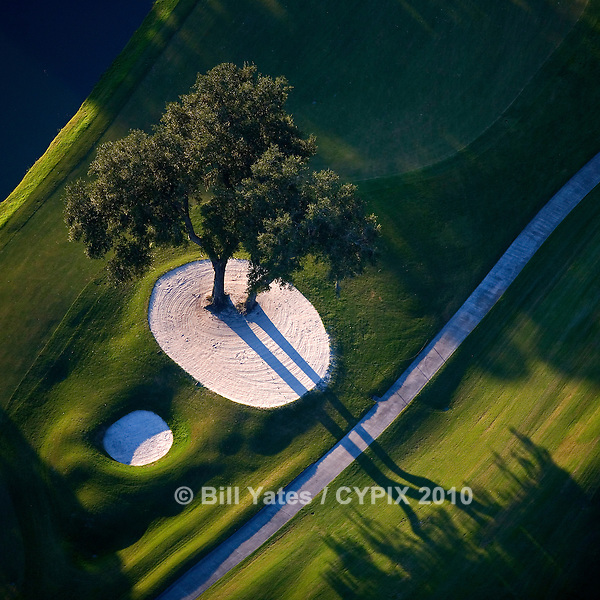 Marsh Landing Golf Course, helicopter aerial