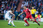 Franck Ribery (R) of FC Bayern Munich fights for the ball with Luka Modric of Real Madrid during the UEFA Champions League Semi-final 2nd leg match between Real Madrid and Bayern Munich at the Estadio Santiago Bernabeu on May 01 2018 in Madrid, Spain. Photo by Diego Souto / Power Sport Images
