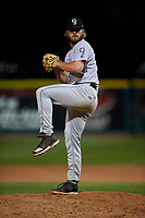 Grand Junction Rockies relief pitcher Eric Hepple (19) during a Pioneer League game against the Grand Junction Rockies at Dehler Park on August 15, 2019 in Billings, Montana. Billings defeated Grand Junction 11-2. (Zachary Lucy/Four Seam Images)