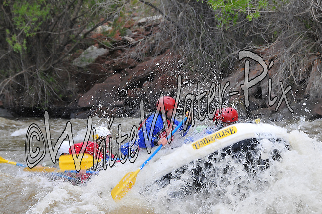 Timberline Tours crashing Interstate, Dead Cow & Rodeo Rapids while running the Lower Eagle River from Wolcott to Eagle, Vail Valley, Colorado, May 27, 2014, PM, WhiteWater-Pix | River Adventure Photography, Doug Mayhew | Madographer