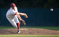 STANFORD, CA - March 29, 2011: A.J. Talt of Stanford baseball pitches during Stanford's game against St. Mary's at Sunken Diamond. Stanford won 16-14.