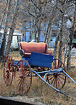 Blue buggy in aspen grove Georgetown Colorado, Georgetown, buggy, horse drawn buggy, Garden of The Gods Colorado Springs Colorado, Colorado, US State of Colorado, Rocky Mountain region,  Pikes peak, Colorado Springs, Aspen, Steamboat Springs, Rocky Mountain region, Coloradans Fine Art Photography by Ron Bennett, Fine Art, Fine Art photography, Art Photography, Copyright RonBennettPhotography.com ©