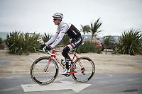 Bauke Mollema (NLD/Trek-Segafredo) leaving for the first training ride ahead of the 103rd Tour de France 2016